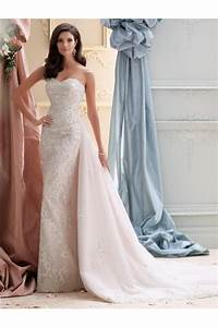 slim strapless sweetheart vintage lace beaded wedding With lace wedding dress with train