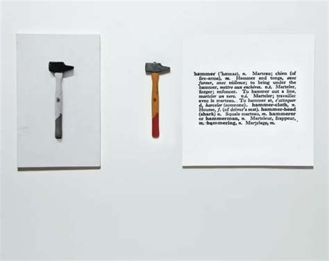 joseph kosuth one and three hammers 1965 artgasm