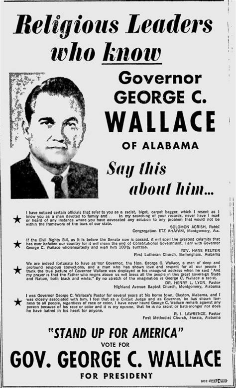 dixie north george wallace    wisconsin