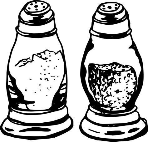 salt and pepper clipart black and white clipart salt pepper