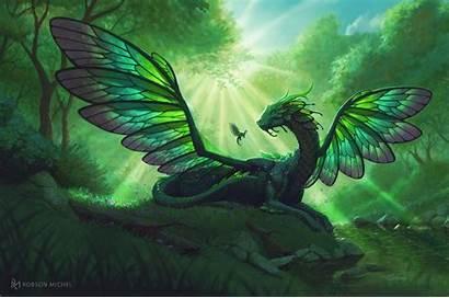 Dragon Fairy Michel Robson Artstation Dragons Child