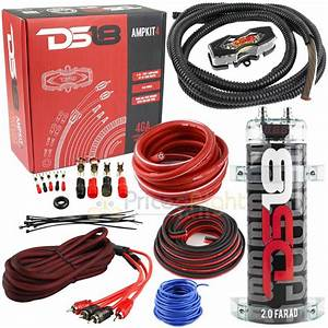Ds18 4 Gauge Amp Kit Wiring Install With Cap2 2000w 2 0