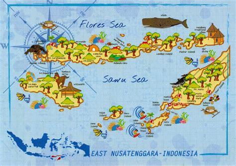 map cards hunting  indonesia east nusa tenggara