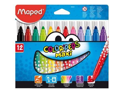fourniture bureau discount maped color 39 peps maxi feutres pointe large feutres