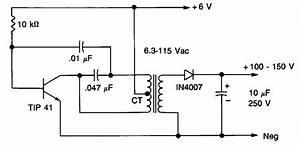 High Voltage Power Supply Circuit Diagram