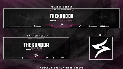 Twitter Header Photoshop Template Free 2017 by Youtube Banner Ideas Best Template Idea