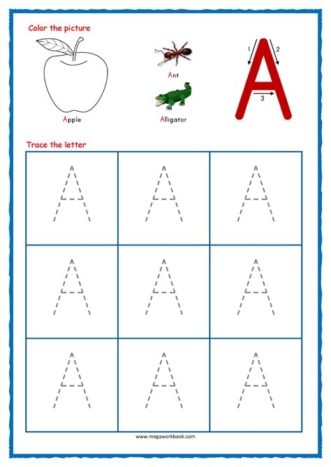 worksheets tracing letters alphabet capital letter