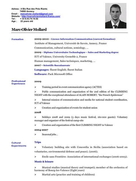 Cv Anglais cv anglais 2010 par mollard fichier pdf
