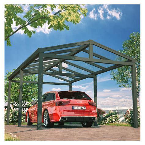 Carport, Satteldach, Aluminium, 3,68x5 M, 368x500 Cm