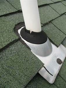 Plumbing Vent Boot Flashing Repair  Method 1