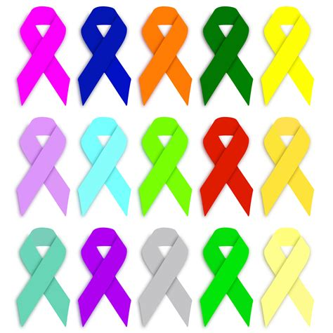 ribbon colors cancer awareness ribbons free stock photo domain