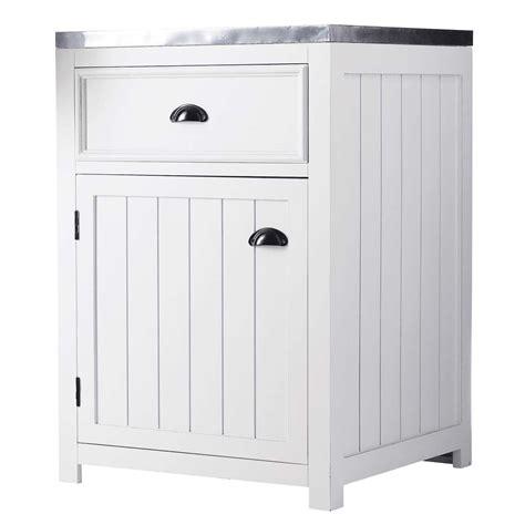 meuble cuisine bas 60 cm meuble bas de cuisine ouverture droite en pin blanc l 60