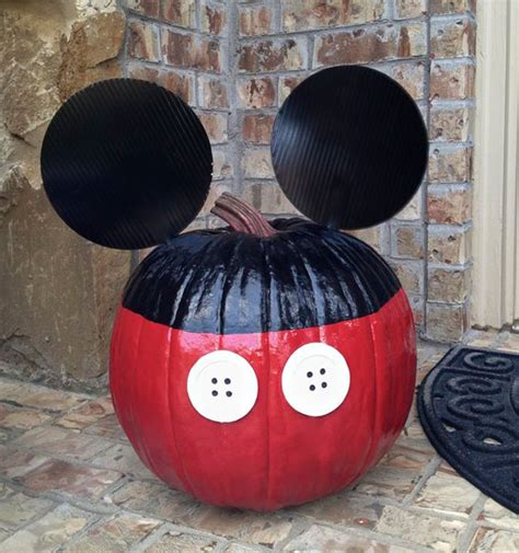 mickey mouse pumpkin ideas 25 no carve painted pumpkin ideas a new trend of halloween 2015