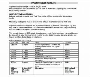 event itinerary template 5 free word documents download With template for schedule of events