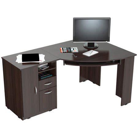 walmart corner desk inval corner computer desk espresso wengue finish