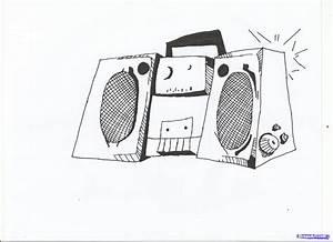How to Draw a Boom Box, Step by Step, Graffiti, Pop ...