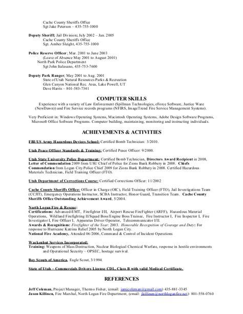 wildland firefighter description for resume 28 images