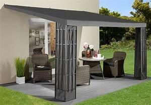 anbaupavillon klassik 3x4 m anthrazit kaufen otto With französischer balkon mit sonnenschirm wasserdicht 4m