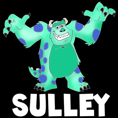 draw sulley  monsters   easy step