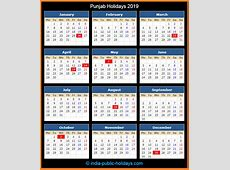 Punjab Holidays 2019
