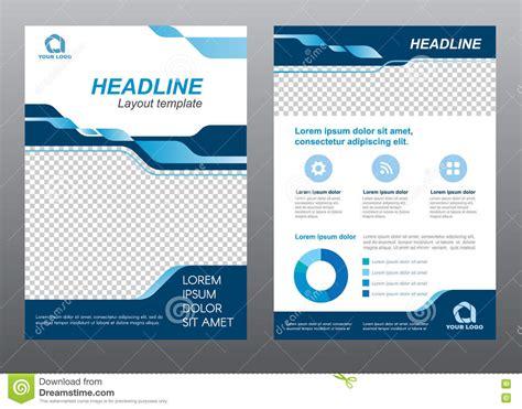 modèle de flyer word layout flyer template size a4 cover page blue tone vector