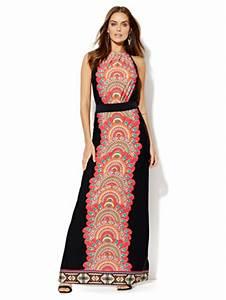 Vibrant Jeans Size Chart Ny C Printed Halter Maxi Dress
