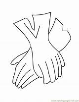Gloves Coloring Pages Glove Printable Baseball Accessories Template Coloringpages101 Getcoloringpages Entertainment sketch template