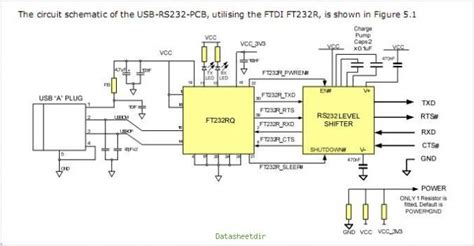 Circuit Diagram For Usb To Rs232 Converter | WebNoteX.com