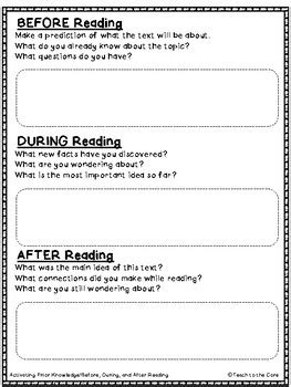 Asking And Answering Questions Graphic Organizers  Ri2 For 2nd3rd Grade