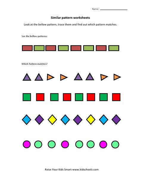 patterns ukg math worksheets patterns best free