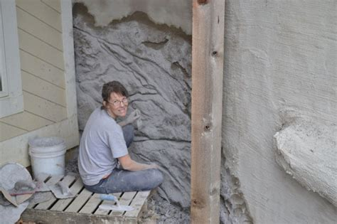 diy poured concrete retaining wall diy carved vertical concrete retaining wall hometalk