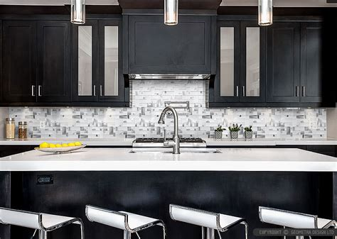espresso kitchen cabinets with backsplash modern espresso cabinet white glass metal backsplash tile