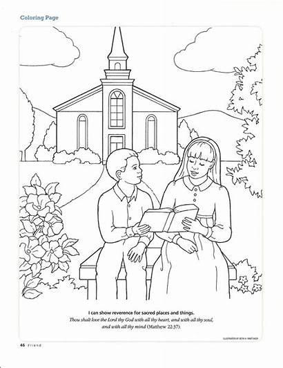 Church Primary Coloring Lesson Pages Living Worshiping