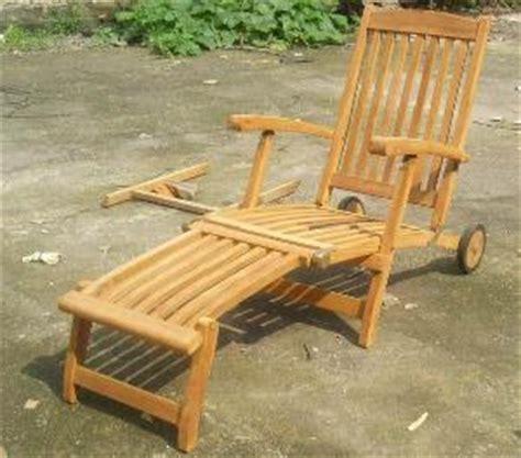 Teak Steamer Chair With Wheels by Teak Decking Steamer Patio Chair With Wheels Garden