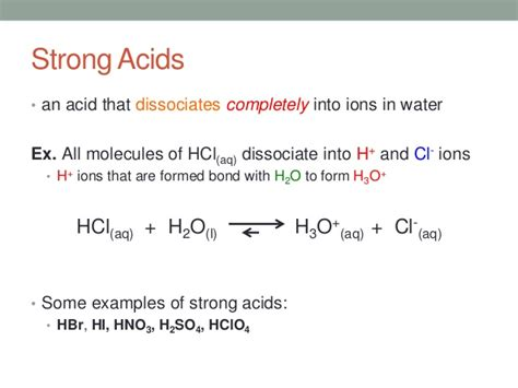4 concentration strength of acid bases