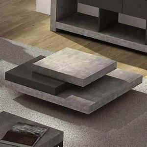 Table Basse Effet Beton : slate table basse l 39 effet b ton avec la souplesse de mat riaux l gers designer in s martinho ~ Teatrodelosmanantiales.com Idées de Décoration