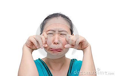 woman crying  funny face stock photo image