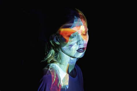 mads perchs hypnotizing light projection portraits