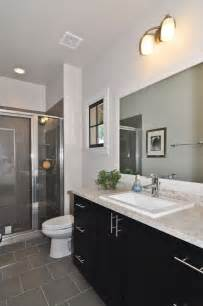 modern master bathroom with flush by signature homes