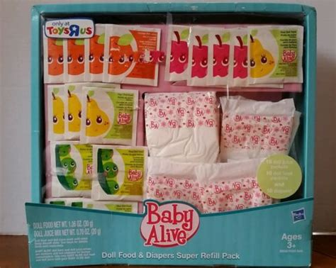 cuisine toys r us baby alive hasbro doll food juice diapers toys r us