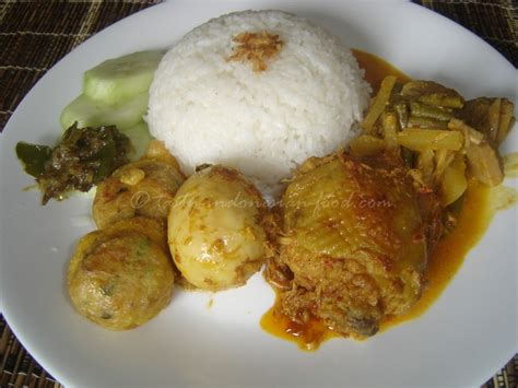 jakarta cuisine tasty food rendang ayam