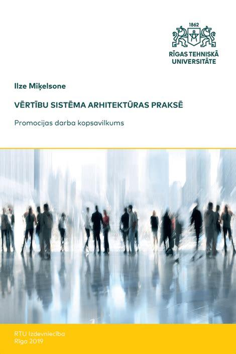 Vērtību sistēma arhitektūras praksē - RTU E-books