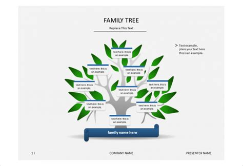 family tree template powerpoint  highest quality