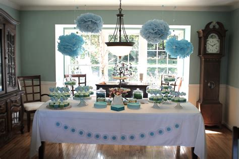 where to buy baby shower decorations baby shower decoration ideas for boys blue tissue