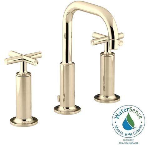 Kohler Purist Faucet Gold by Kohler Purist 8 In Widespread 2 Handle Mid Arc Bathroom