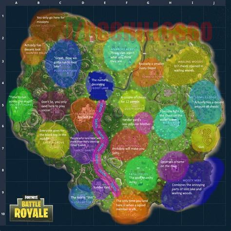 accurate map fortnite battle royale
