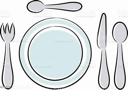 Plate Utensils Fork Vector Kitchen Spoon Utensil