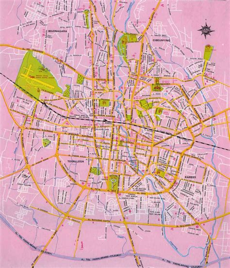 amazing indonesia bandung city map