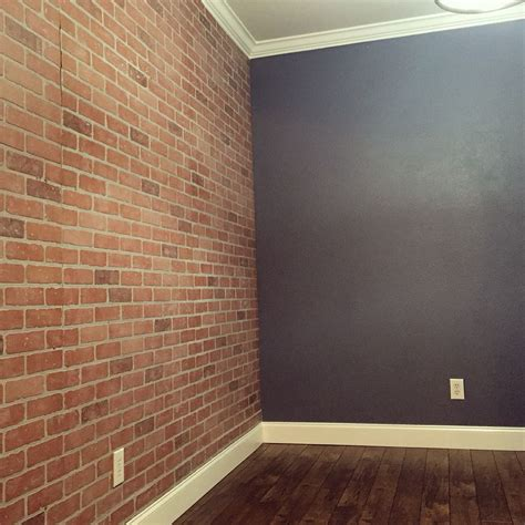 faux brick wall panels from home depot for bible study room brick