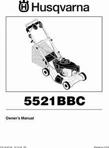 Husqvarna 5521bbc User Manual Lawn Mower Manuals And